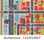 modern detail urban city map... | Shutterstock .eps vector #1113513827