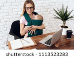 business woman working with...   Shutterstock . vector #1113523283
