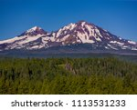 three sisters wilderness ... | Shutterstock . vector #1113531233