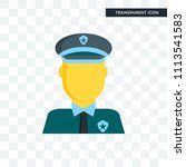 policeman vector icon isolated... | Shutterstock .eps vector #1113541583