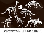 stylish  steep  dinosaur... | Shutterstock .eps vector #1113541823
