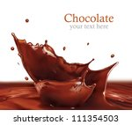 fresh liquid chocolate splash... | Shutterstock . vector #111354503