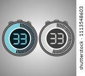 electronic digital stopwatch.... | Shutterstock .eps vector #1113548603