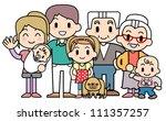 big family | Shutterstock . vector #111357257
