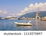 mediterranean port. montenegro  ...   Shutterstock . vector #1113575897