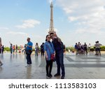 paris  france   may 8  2018  a... | Shutterstock . vector #1113583103