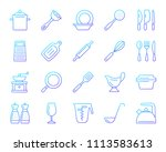 kitchenware thin line icons set.... | Shutterstock .eps vector #1113583613