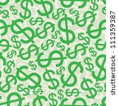 seamless background with dollar ... | Shutterstock .eps vector #111359387
