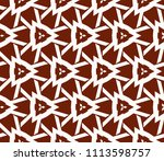 seamless pattern with symmetric ... | Shutterstock .eps vector #1113598757