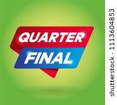 quarter final arrow tag sign. | Shutterstock .eps vector #1113604853