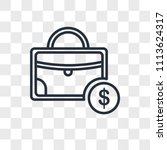 briefcase vector icon isolated...   Shutterstock .eps vector #1113624317
