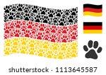 waving germany state flag.... | Shutterstock .eps vector #1113645587