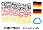 waving german official flag.... | Shutterstock .eps vector #1113647627