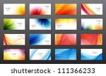 set of 16 vector abstract... | Shutterstock .eps vector #111366233