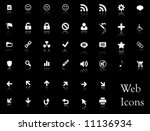 A big collection of web icons. You can find buttons with these icons in my portfolio. - stock vector