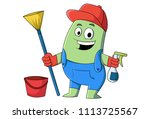 vector cartoon illustration of... | Shutterstock .eps vector #1113725567