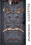 wrought iron gates  ornamental... | Shutterstock . vector #1113737753