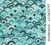 abstract mermaid scales squama... | Shutterstock .eps vector #1113810797
