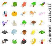 beast world icons set.... | Shutterstock . vector #1113814853