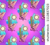 seamless background of... | Shutterstock .eps vector #1113837023