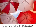 display of red and white... | Shutterstock . vector #1113846443