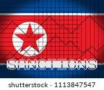 financial trade sanctions... | Shutterstock . vector #1113847547