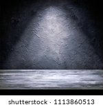 grunge gray wall and gray plank ...   Shutterstock . vector #1113860513