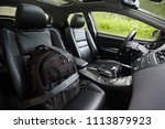 carriage of bags in the car.... | Shutterstock . vector #1113879923