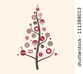 abstract decorated christmas... | Shutterstock . vector #111388013