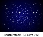 Galaxy sparkling stars and planets vector - stock vector