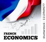 french economics illustration... | Shutterstock . vector #1113969077