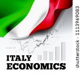 italy economics illustration... | Shutterstock . vector #1113969083