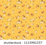 cute floral pattern in the... | Shutterstock .eps vector #1113981257