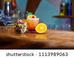 attractive tasty drink  with a... | Shutterstock . vector #1113989063