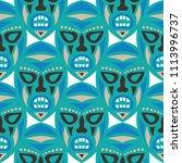 seamless background. tribal... | Shutterstock .eps vector #1113996737