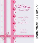 pink wedding card. | Shutterstock .eps vector #111405077