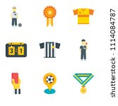 set of 9 simple editable icons... | Shutterstock .eps vector #1114084787
