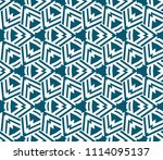 seamless pattern with symmetric ... | Shutterstock .eps vector #1114095137