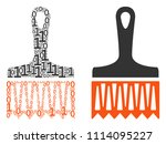 wide brush collage icon of zero ... | Shutterstock .eps vector #1114095227