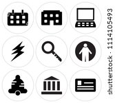 set of 9 simple editable icons... | Shutterstock .eps vector #1114105493