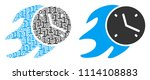 fire deadline clock composition ... | Shutterstock .eps vector #1114108883