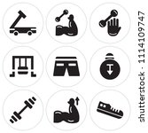 set of 9 simple editable icons... | Shutterstock .eps vector #1114109747