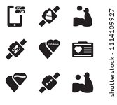 set of 9 simple editable icons... | Shutterstock .eps vector #1114109927