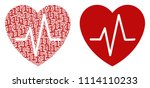 cardiology composition icon of... | Shutterstock .eps vector #1114110233