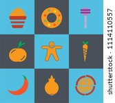 set of 9 simple editable icons... | Shutterstock .eps vector #1114110557