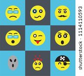 set of 9 simple editable icons...   Shutterstock .eps vector #1114110593
