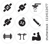 set of 9 simple editable icons... | Shutterstock .eps vector #1114112477