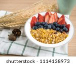 stylish healthy whole grain... | Shutterstock . vector #1114138973