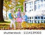 children go back to school.... | Shutterstock . vector #1114139303