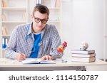 medical student studying heart... | Shutterstock . vector #1114150787